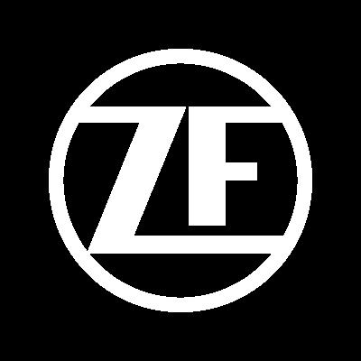 ZF logo biele