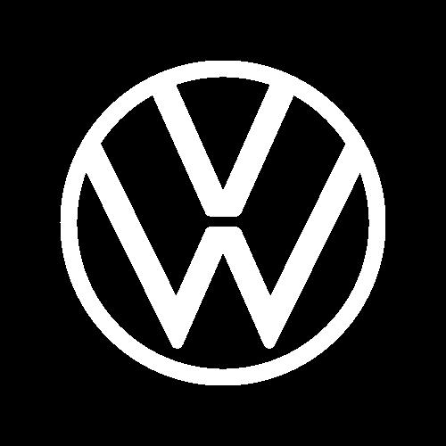 Volkswagen logo biele